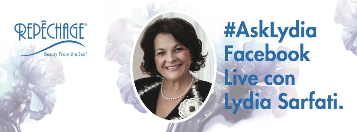ASK LYDIA 8 Agosto  Lydia Sarfati Live su Facebook per rispondere a tutte le vostre domande