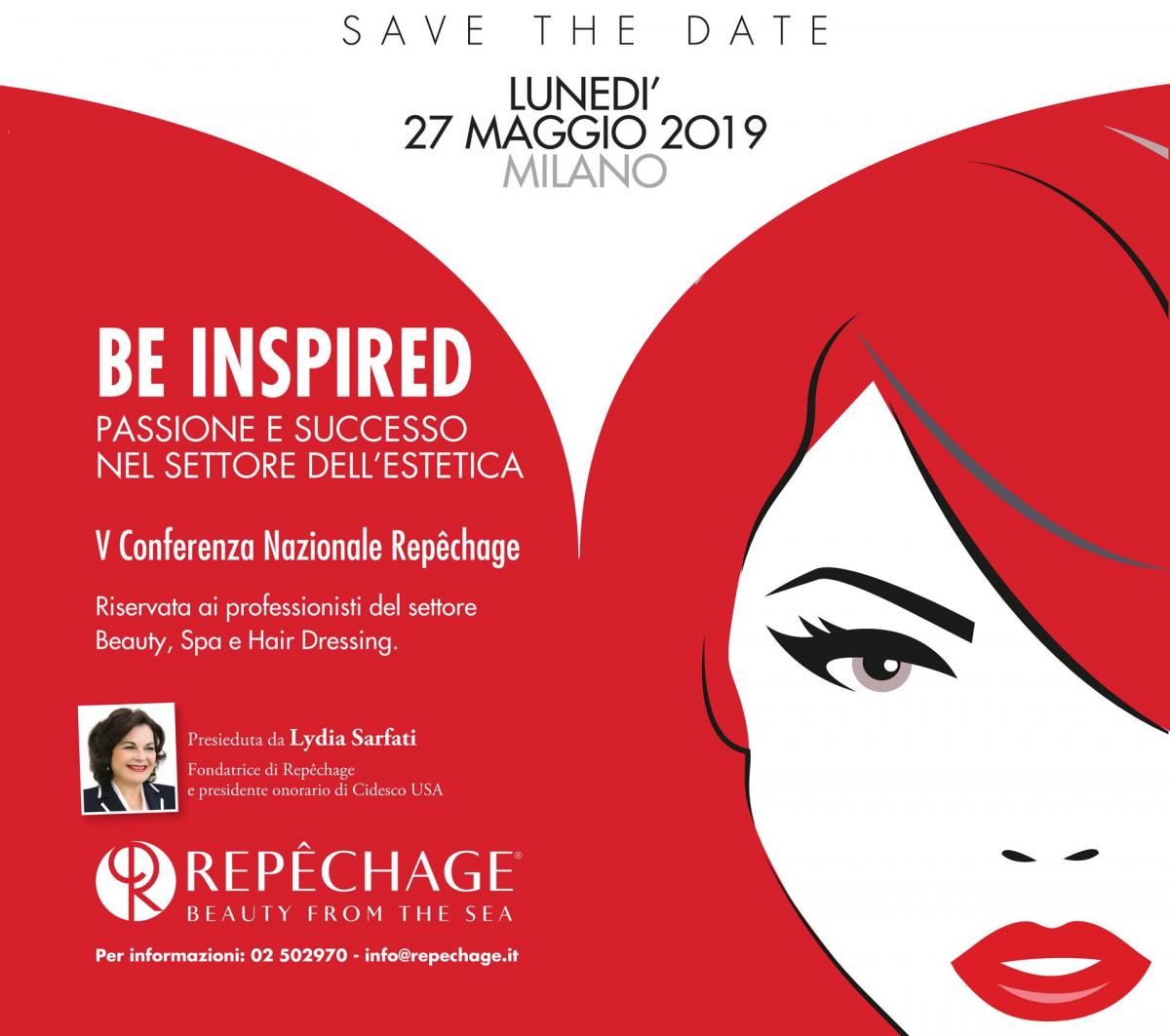 Be inspired: 27 maggio 2019 v conferenza nazionale Repechage